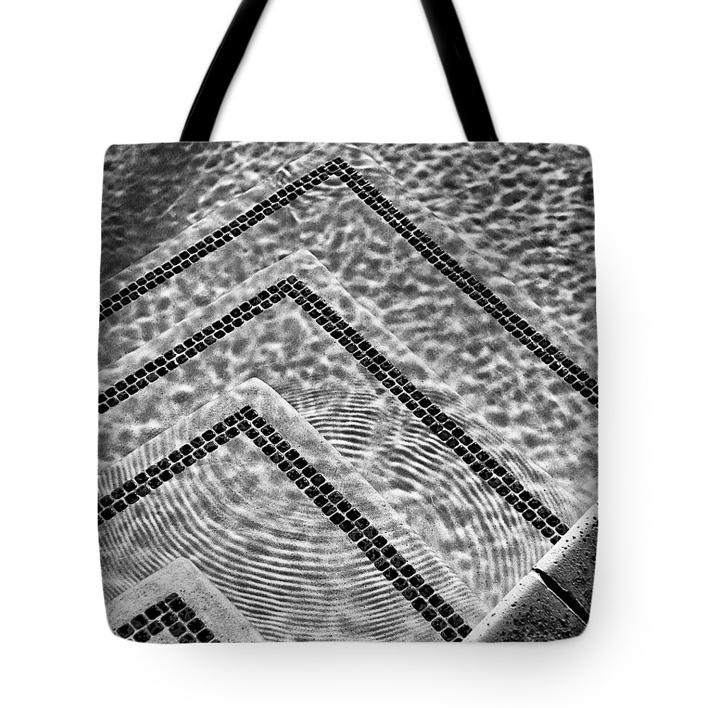 Pool Tote Bag featuring the photograph Ripple Effect Bw Palm Springs by William Dey