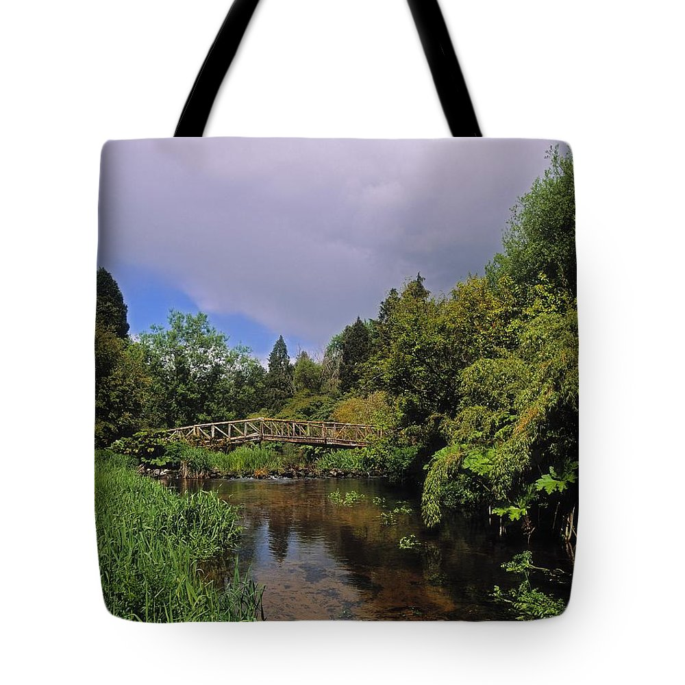 Outdoors Tote Bag featuring the photograph River Awbeg, Annesgrove by The Irish Image Collection