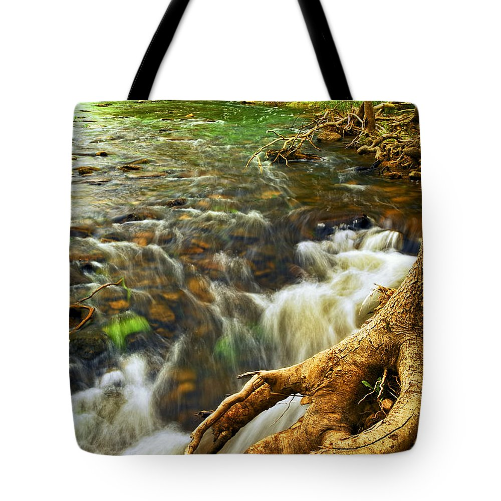 Water Tote Bag featuring the photograph River Rapids by Elena Elisseeva