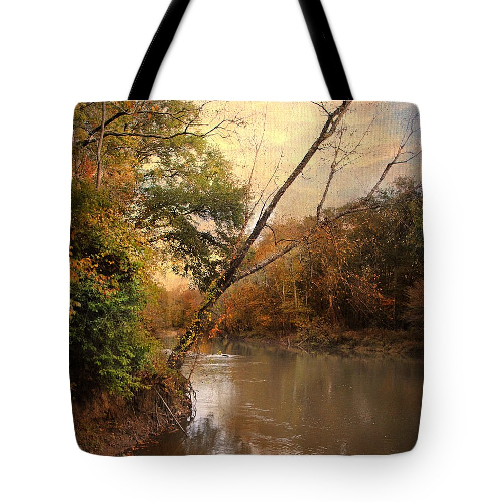 Autumn Tote Bag featuring the photograph Riverbank 1 by Jai Johnson