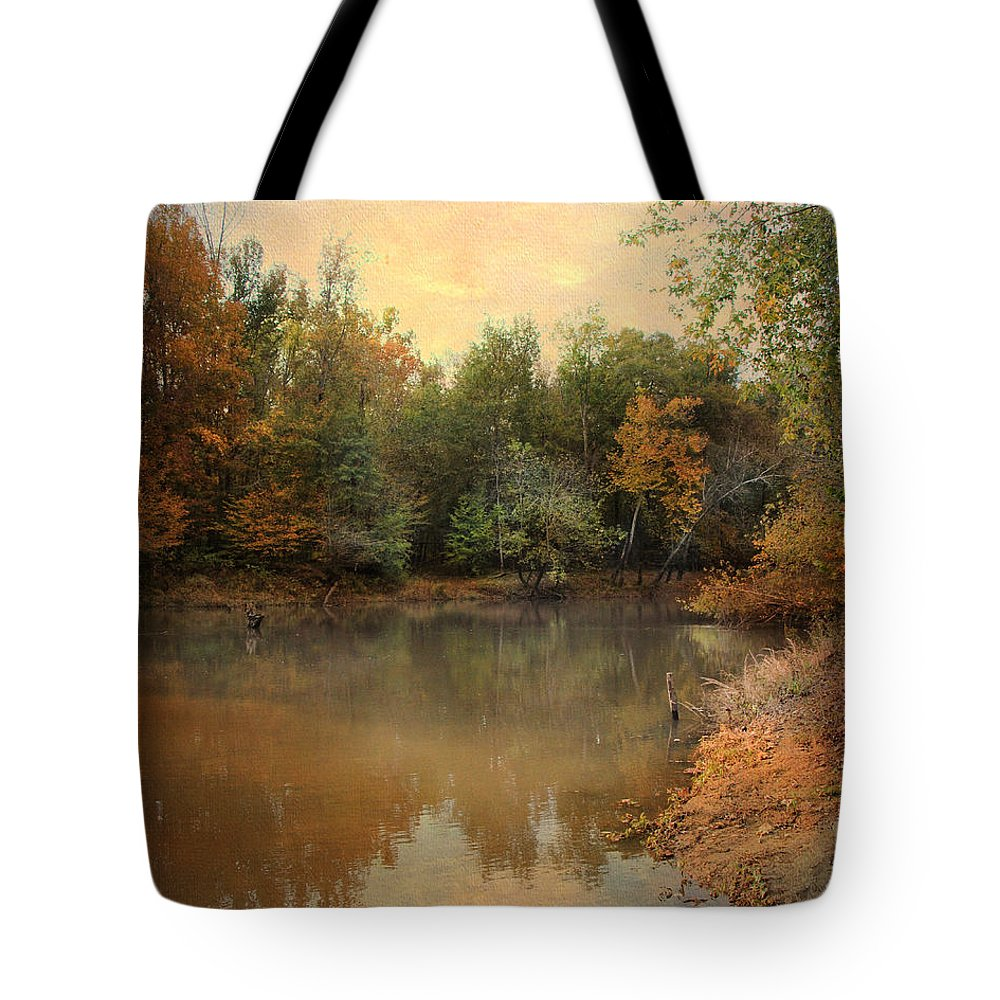 Autumn Tote Bag featuring the photograph Riverbank 2 by Jai Johnson