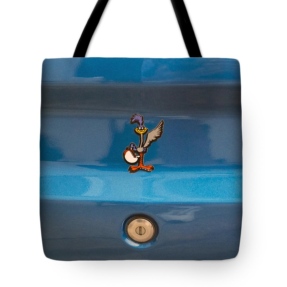 Transportation Tote Bag featuring the photograph Road Runner Bird Emblem by Thomas Woolworth