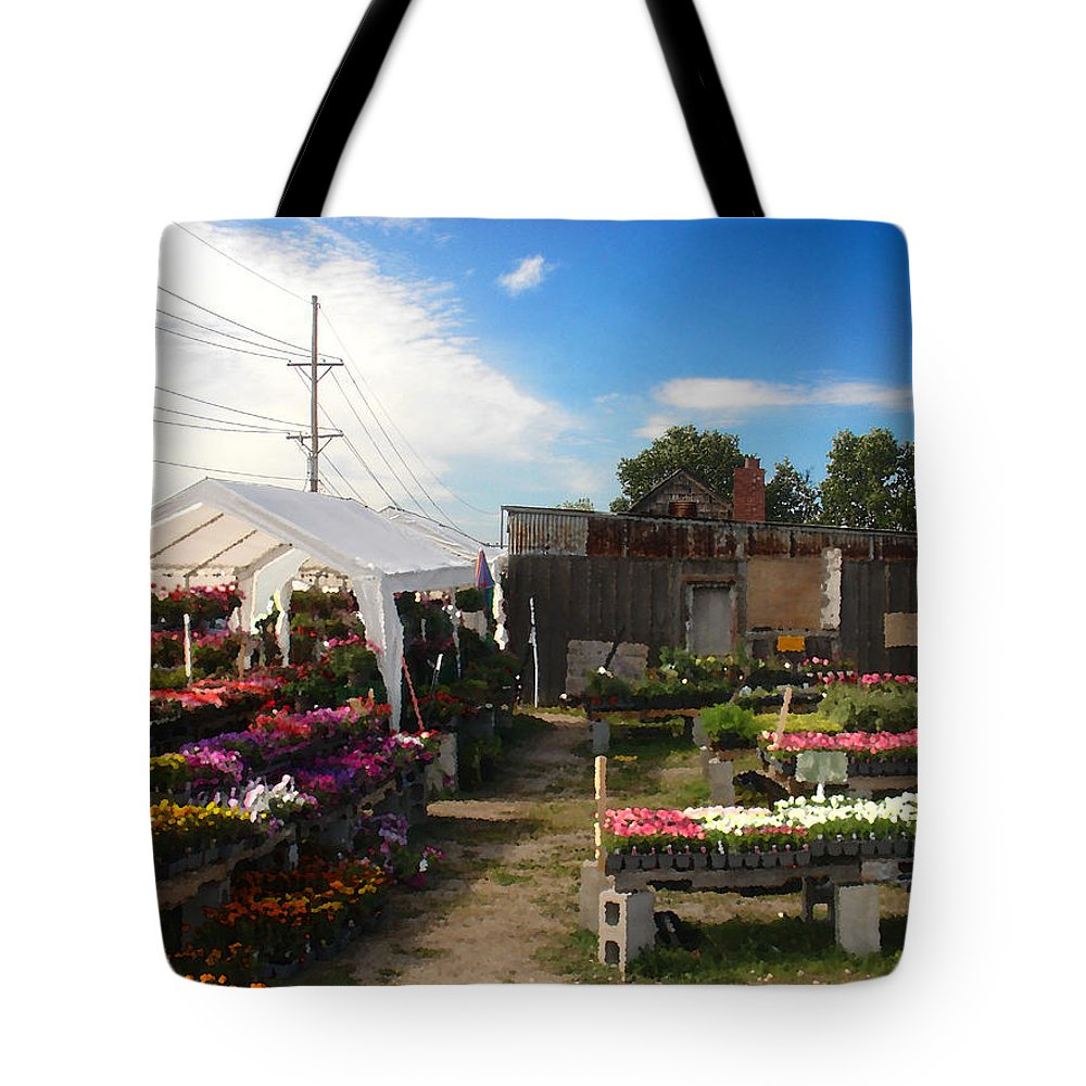 Landscape Tote Bag featuring the photograph Road Side Stand by Steve Karol