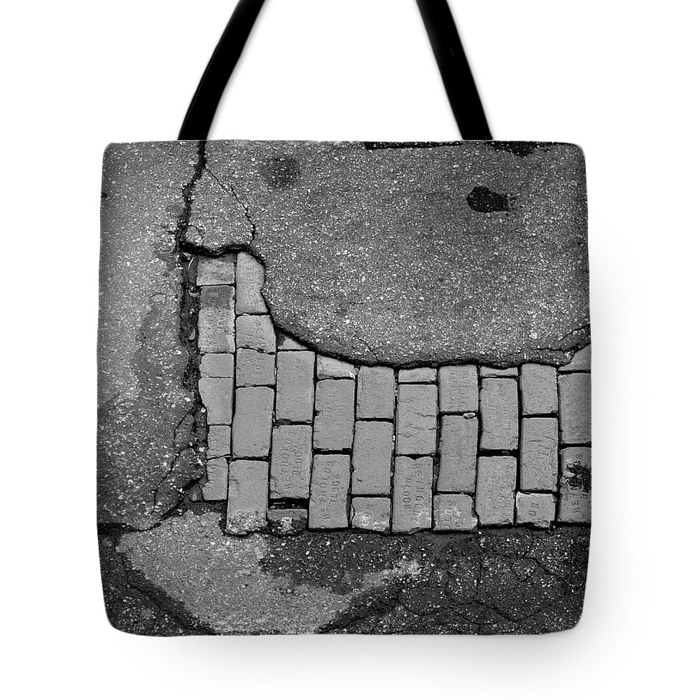 Road Textures Tote Bag featuring the photograph Road Textures by Mike McGlothlen
