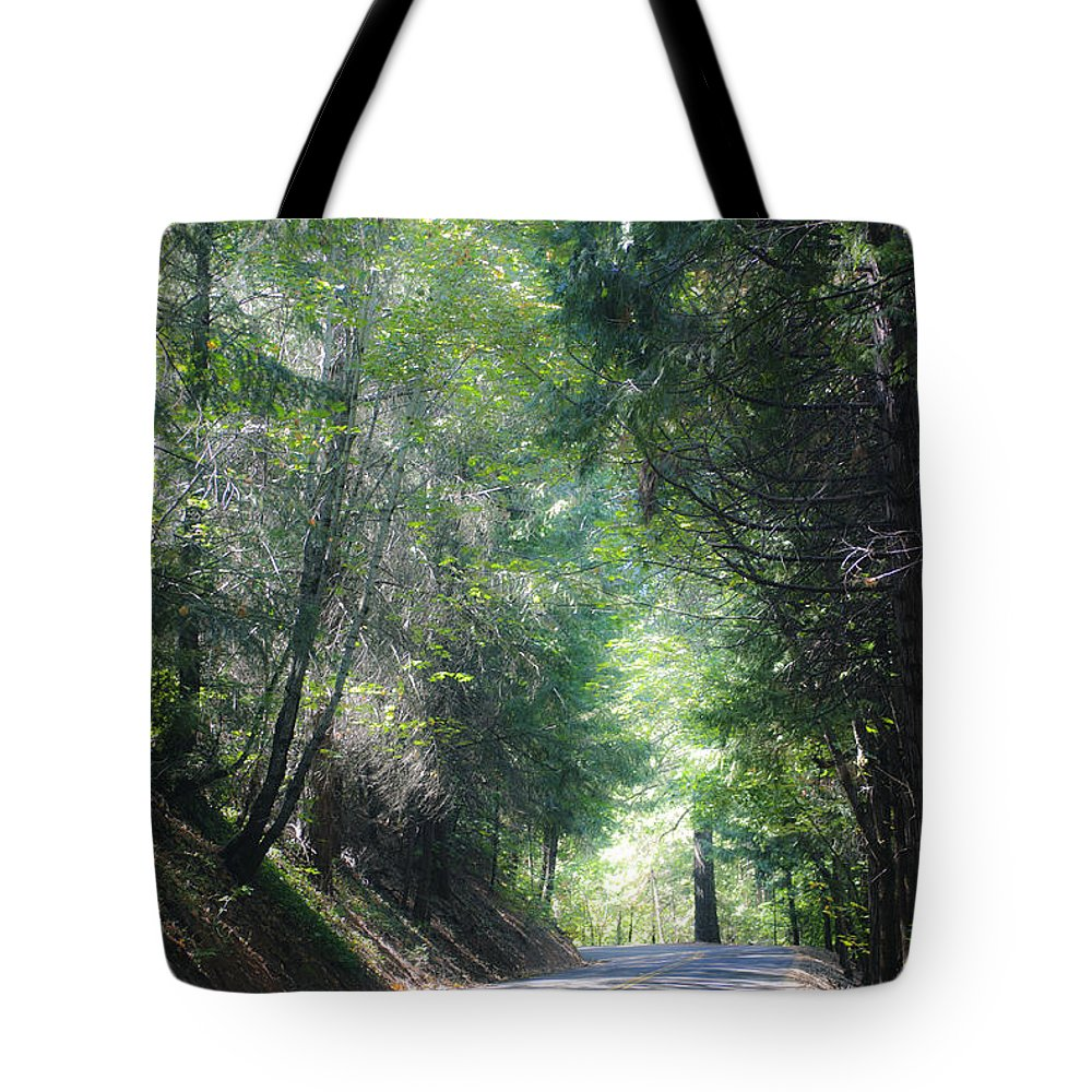 Road Tote Bag featuring the photograph Road To Apple Hill by Diego Re