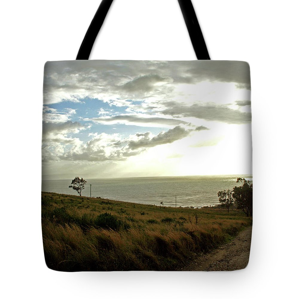 Water Tote Bag featuring the photograph Road To The Ocean by La Dolce Vita