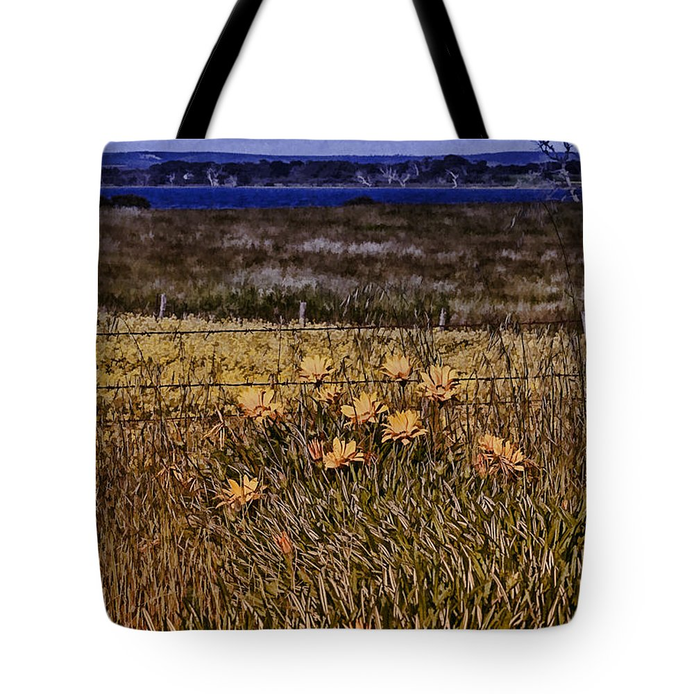 Flowers Tote Bag featuring the photograph Roadside Flowers by Douglas Barnard