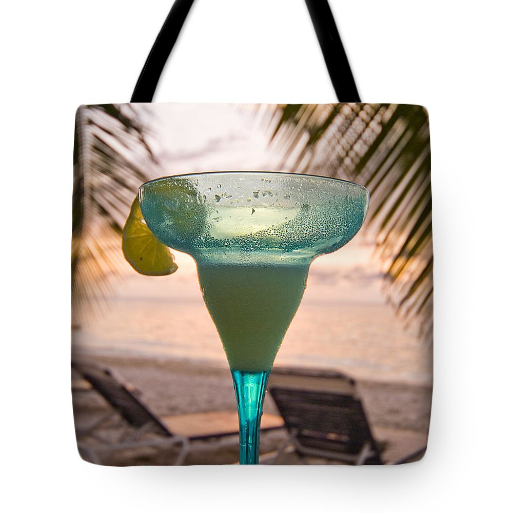 Bay Tote Bag featuring the photograph Roatans West Bay, Tropical Drink by Richard Nowitz