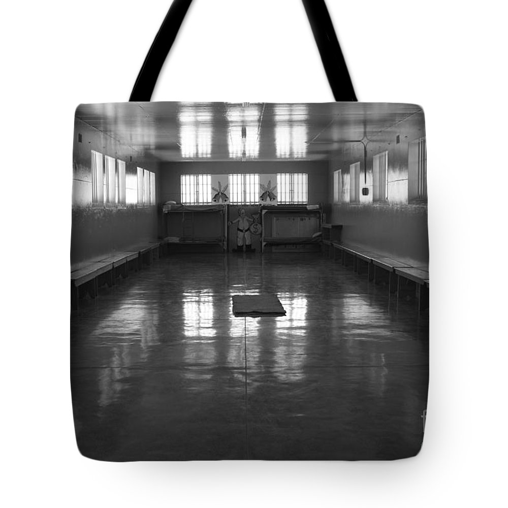 Robben Island Tote Bag featuring the photograph Robben Prison 01 by Aidan Moran