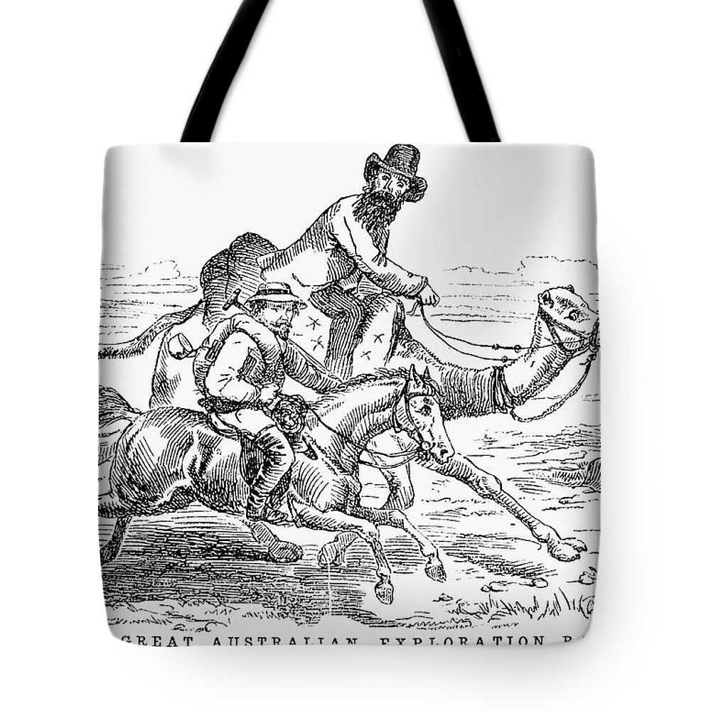 1860 Tote Bag featuring the photograph Robert Ohara Burke by Granger