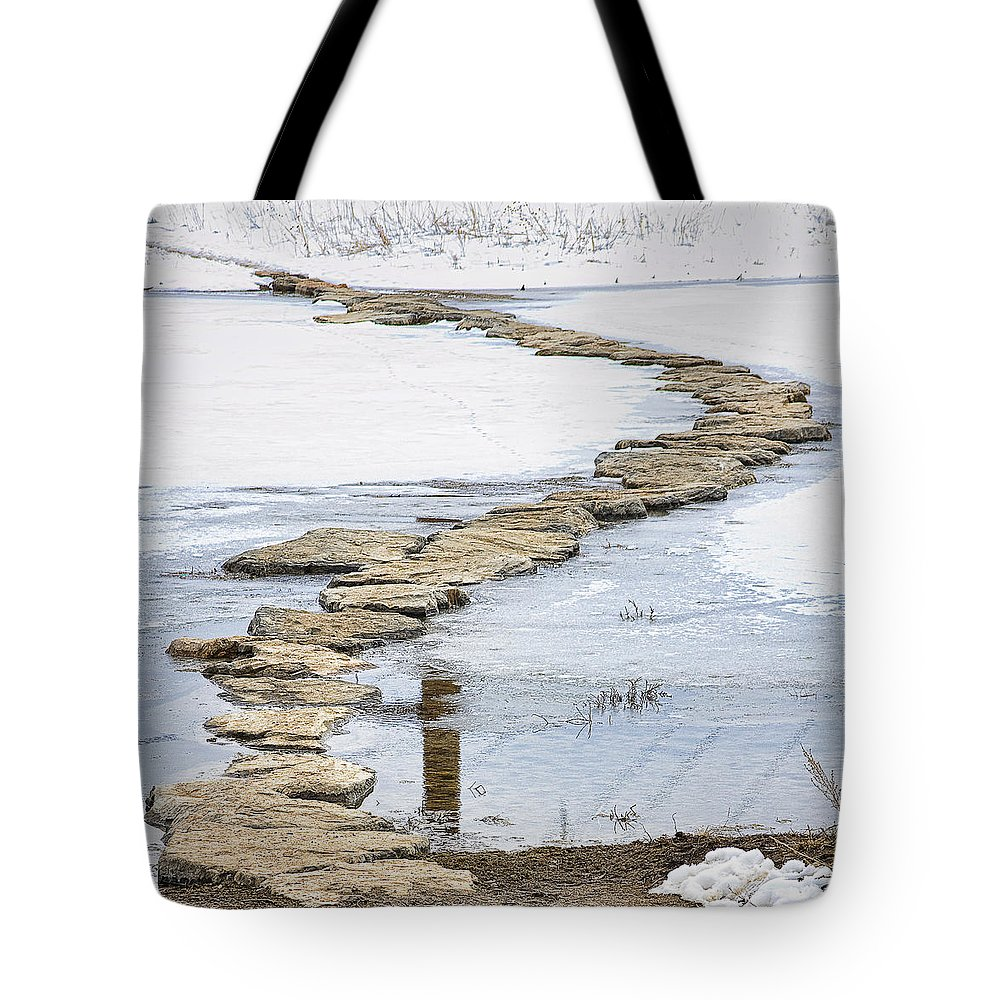 Crossing Tote Bag featuring the photograph Rock Lake Crossing by James BO Insogna