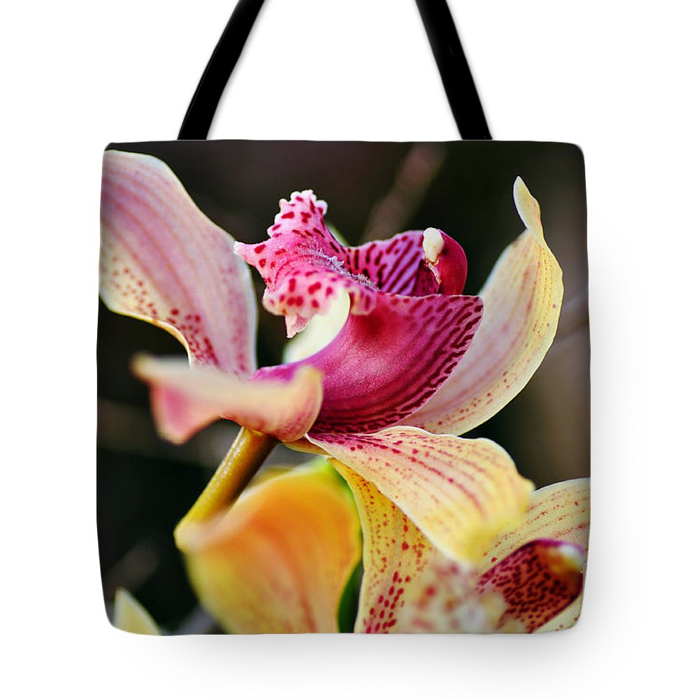 Photography Tote Bag featuring the photograph Rocking Chair Orchid by Kaye Menner