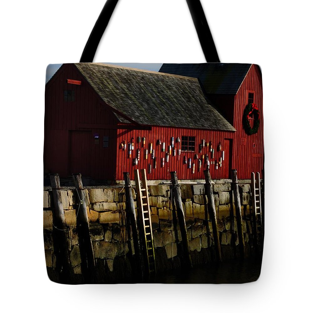 Rockport Tote Bag featuring the photograph Rockport - G by Mark Valentine