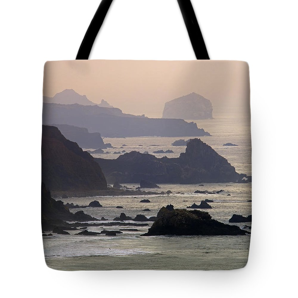 Headlands Tote Bag featuring the photograph Rocky Headlands On The Big Sur Coast by Rich Reid