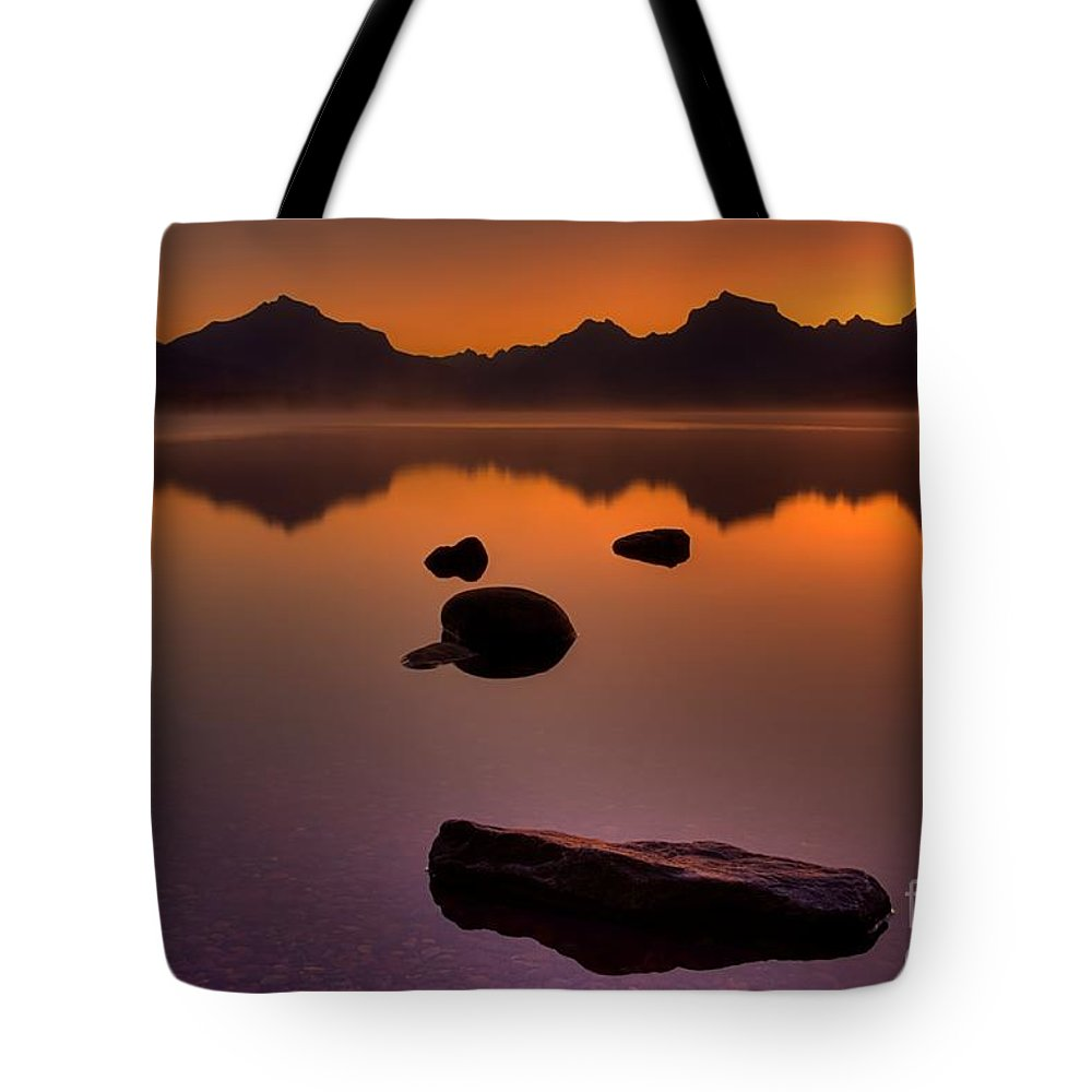 Glacier National Park Tote Bag featuring the photograph Rocky Mountain Magic-six-fiftyone Am by James Anderson