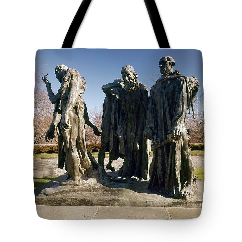 1889 Tote Bag featuring the photograph Rodin: Burghers Of Calais by Granger
