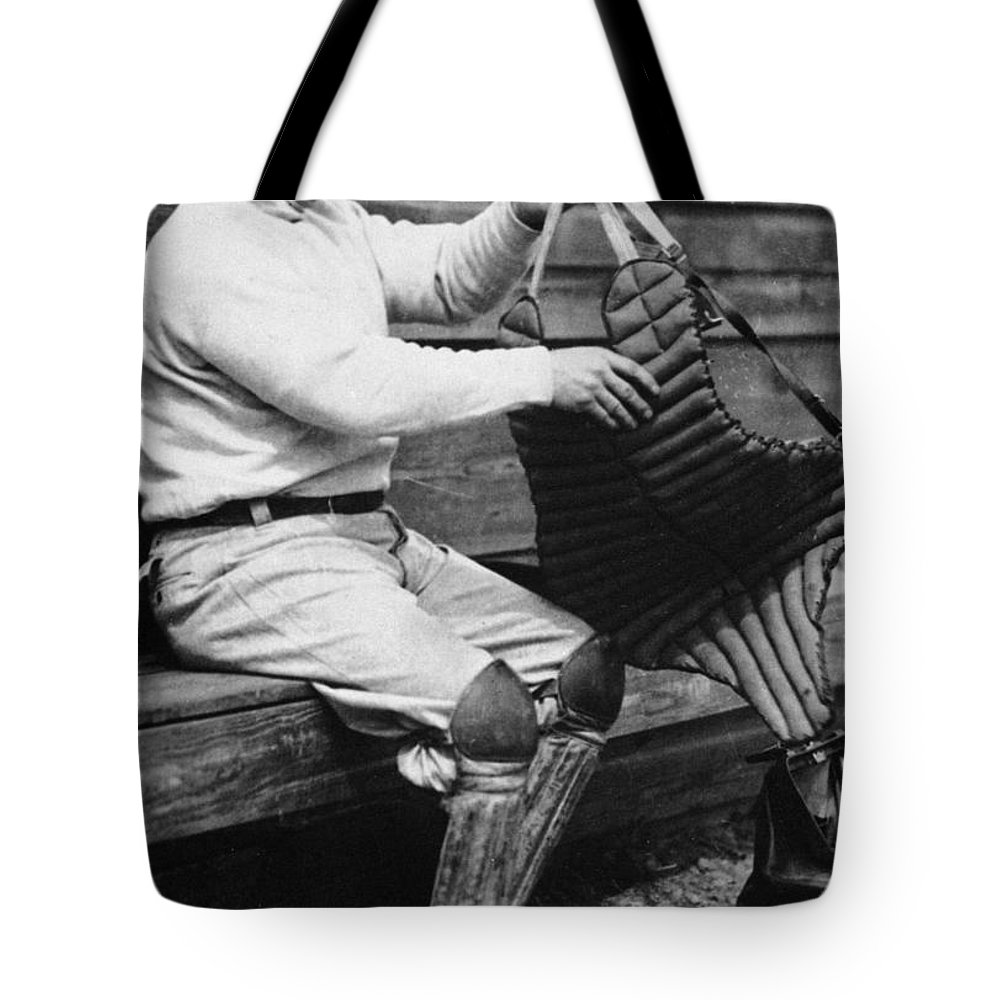 20th Century Tote Bag featuring the photograph Roger Bresnahan (1879-1944) by Granger