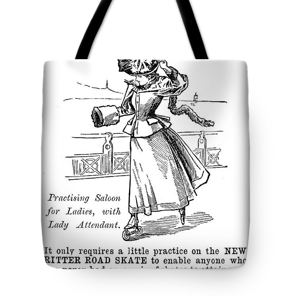 1896 Tote Bag featuring the photograph Roller Skates, 1896 by Granger