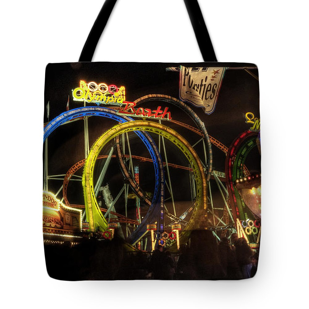 Rollercoaster Tote Bag featuring the photograph Rollercoaster At The Dom by Rob Hawkins