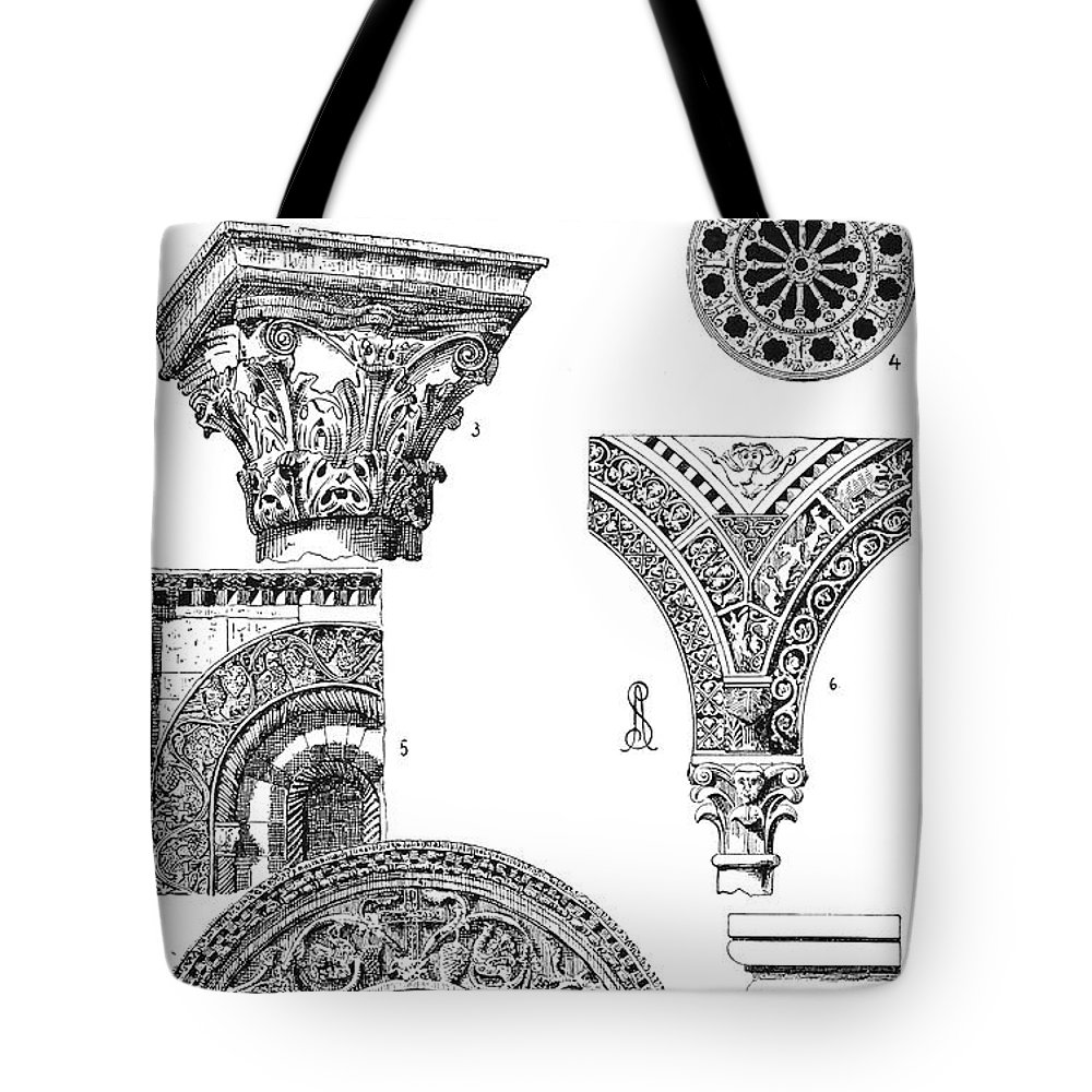 Ancient Tote Bag featuring the photograph Romanesque Ornament by Granger
