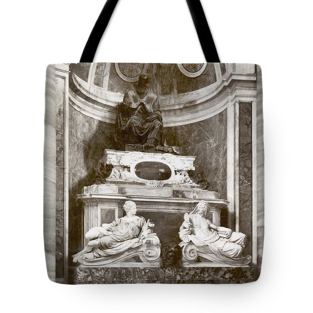 1890s Tote Bag featuring the photograph Rome: Pope Paul IIi by Granger