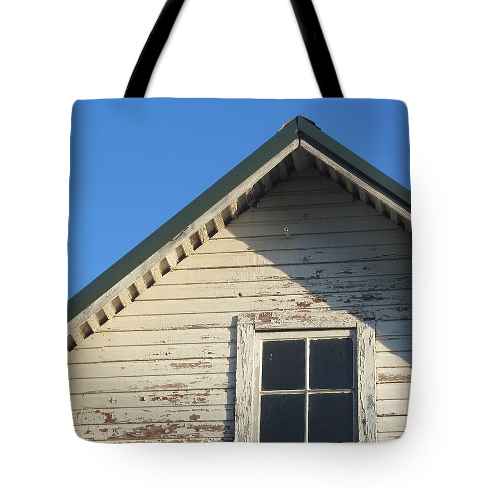 Barn Tote Bag featuring the photograph Roofline And Small Barn Facing North by Tina M Wenger