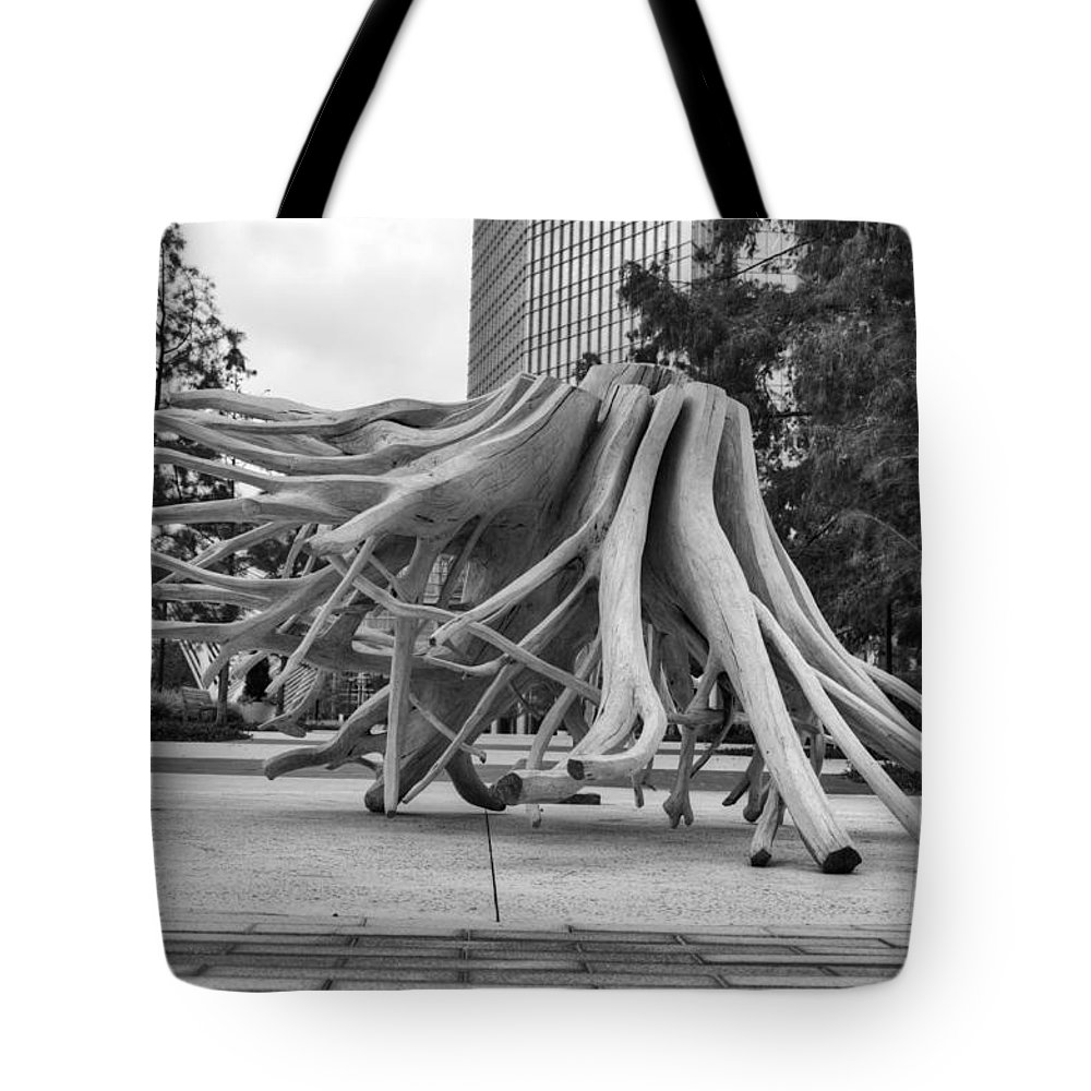 Root Tote Bag featuring the photograph Roots by Ricky Barnard
