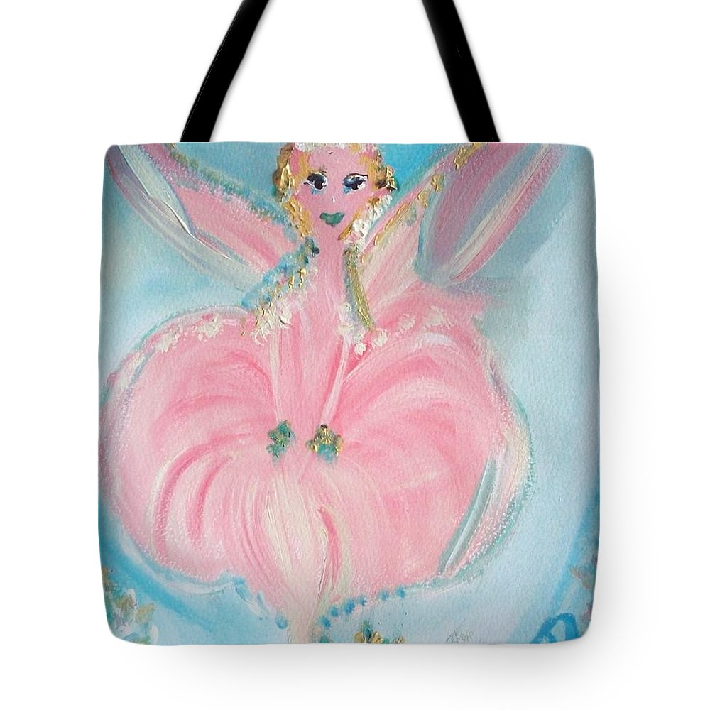 Rose Tote Bag featuring the painting Rose Fairy by Judith Desrosiers