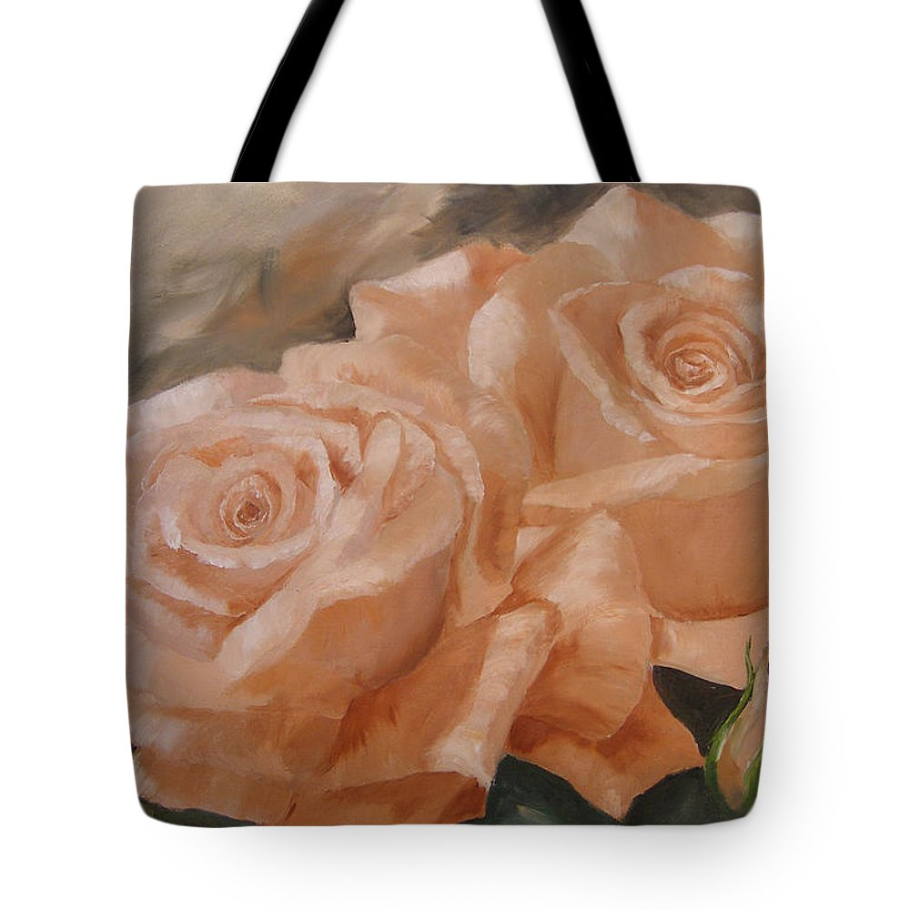 Floral Tote Bag featuring the painting Rose Study by Mark Perry