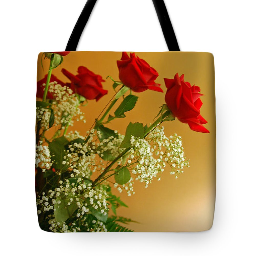 Rose Tote Bag featuring the photograph Roses For Suzanne by Suzanne Gaff