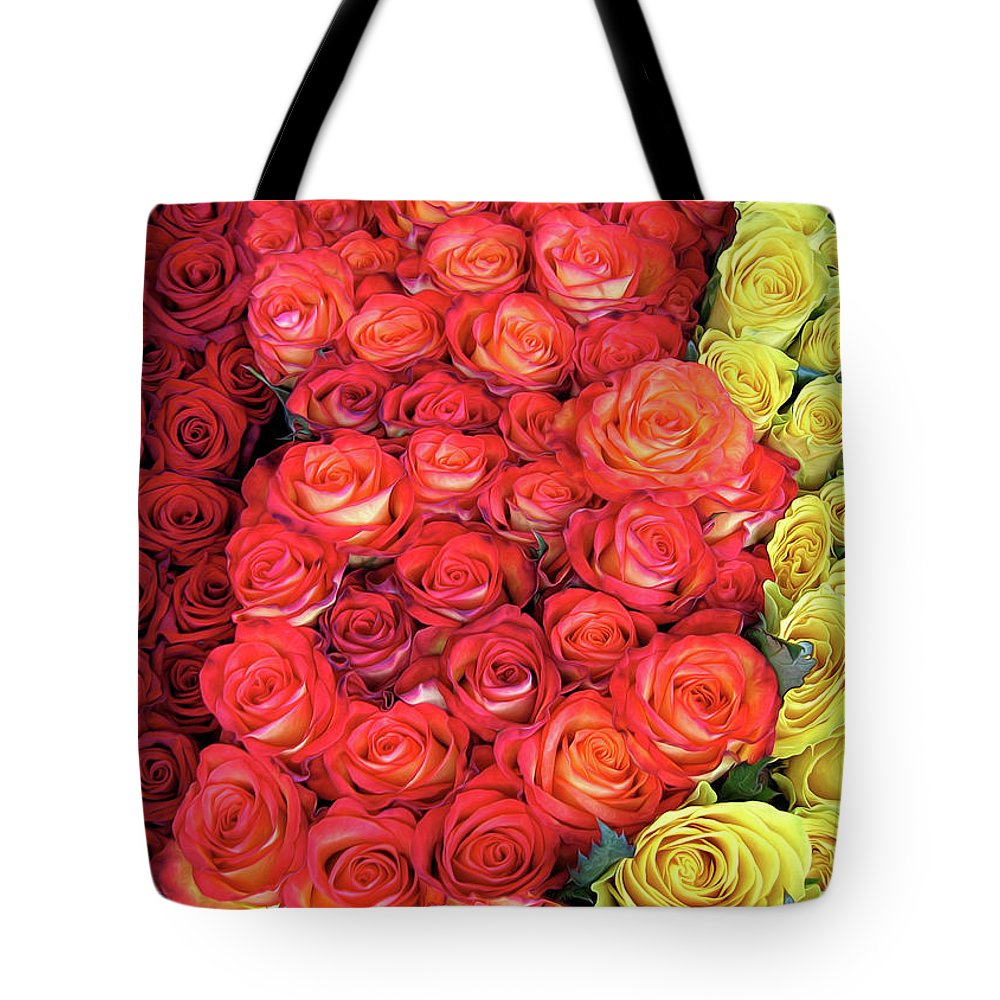 Rose Tote Bag featuring the photograph Roses Roses Roses by Dave Mills