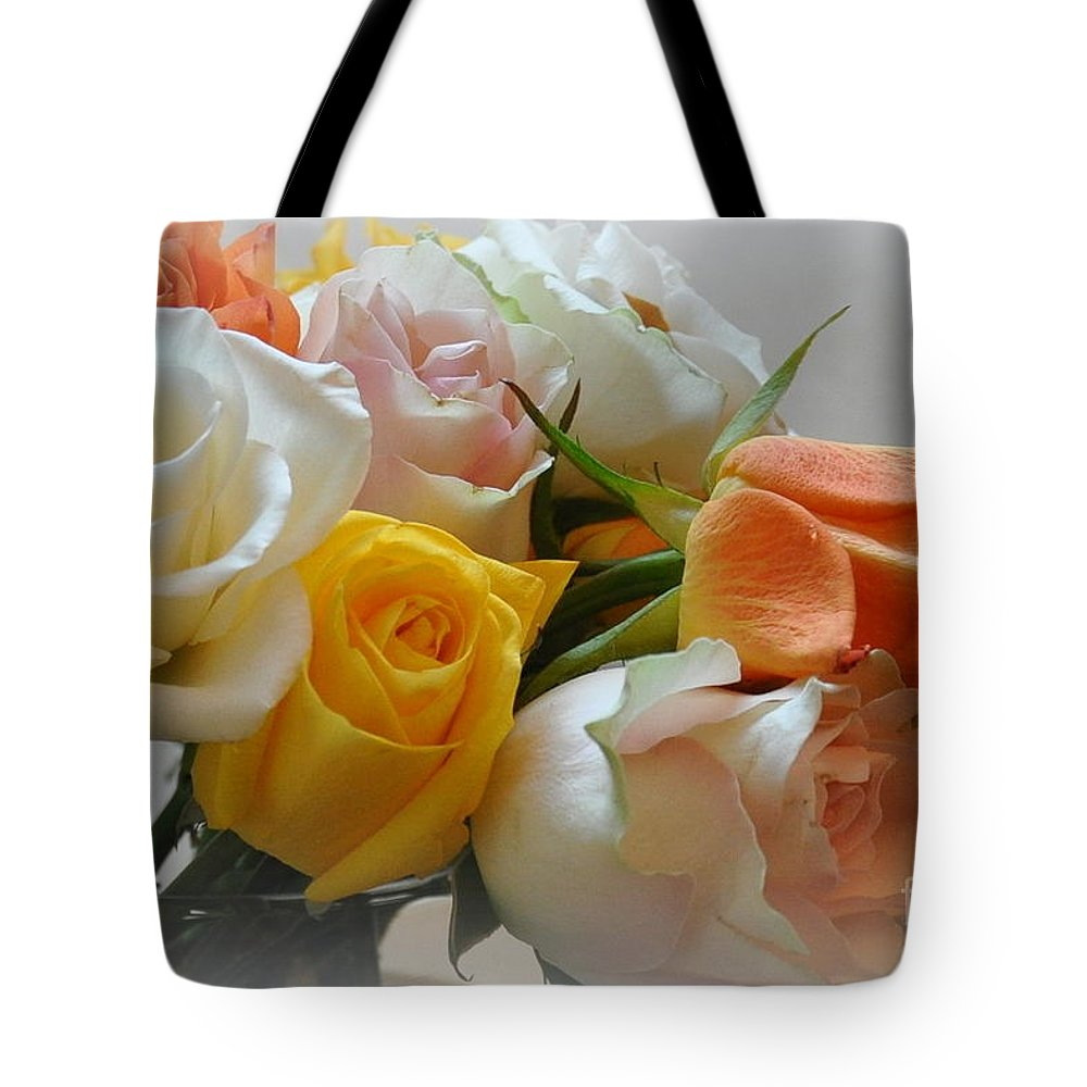 Floral Tote Bag featuring the photograph Roses by Tanya Searcy