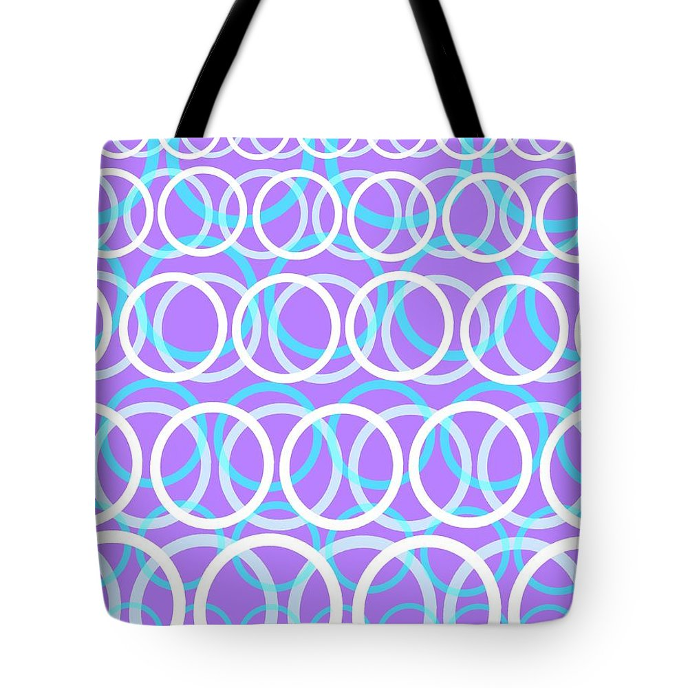 Circle Tote Bag featuring the digital art Round Cirlces by Louisa Knight