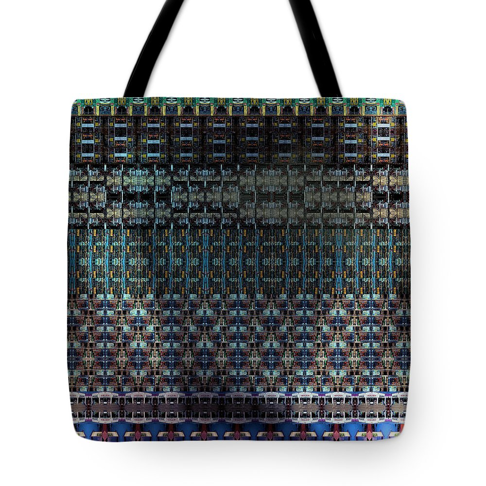 Colorful Tote Bag featuring the digital art Round Midnight by Mike Butler