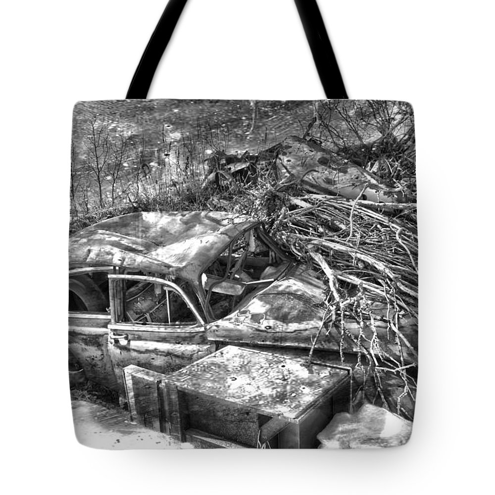Jerry Cordeiro Tote Bag featuring the photograph Routes In Roots by The Artist Project