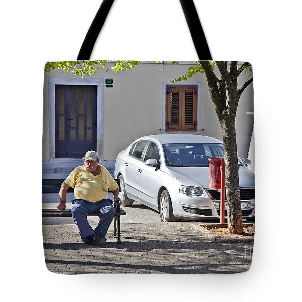 Man Tote Bag featuring the photograph Rovinj Man by Madeline Ellis