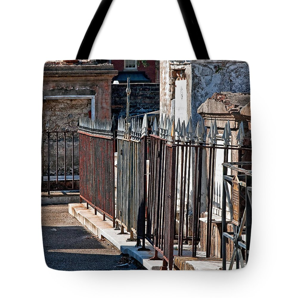 Tomb Tote Bag featuring the photograph Row Of Tombs St Louis One Cemetery New Orleans by Kathleen K Parker