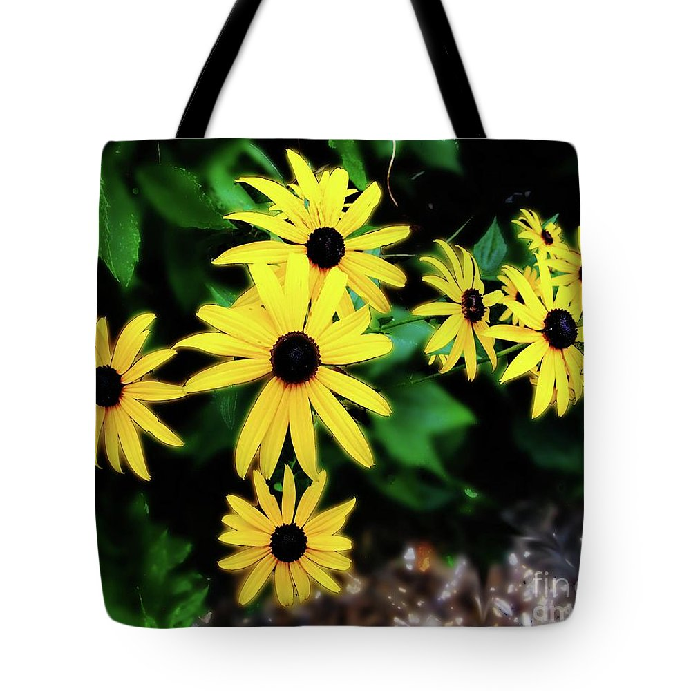 Flowers Tote Bag featuring the photograph Rudbeckia Bristol Ri by Lizi Beard-Ward