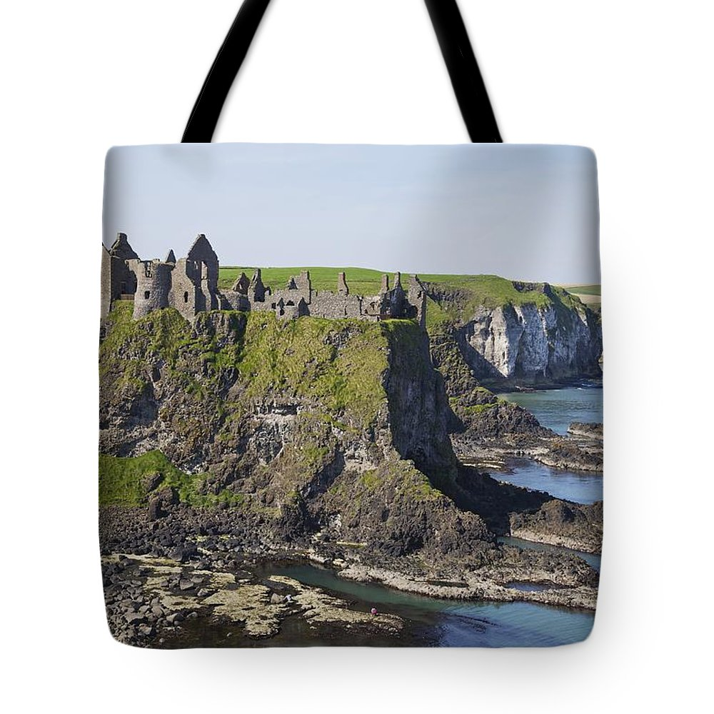 Coastal Tote Bag featuring the photograph Ruins On Coastal Cliff by Patrick Swan