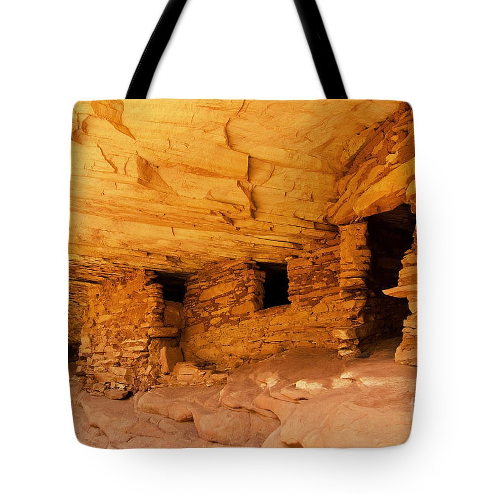 Ruin Tote Bag featuring the photograph Ruins Structures by Bob and Nancy Kendrick