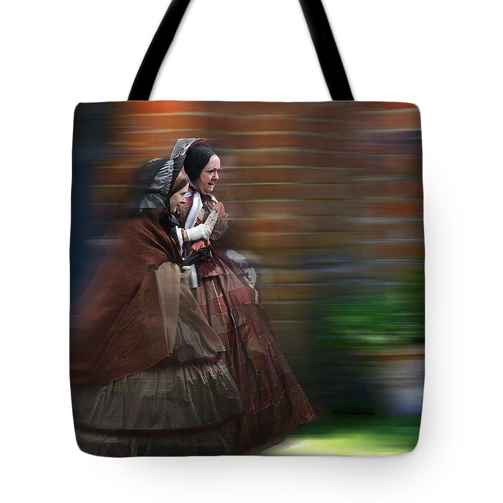 Victorian Tote Bag featuring the photograph Running Late by Ron Jones
