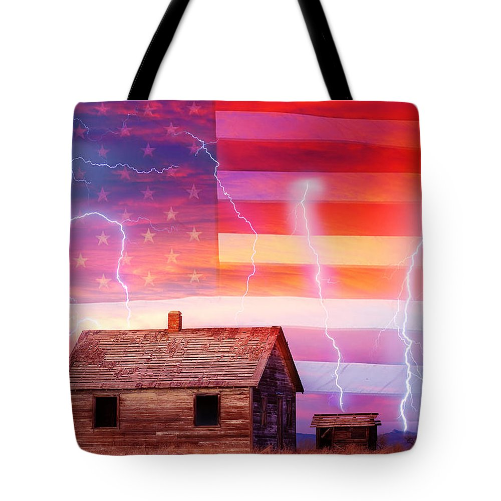 North Tote Bag featuring the photograph Rural Rustic America Storm by James BO Insogna