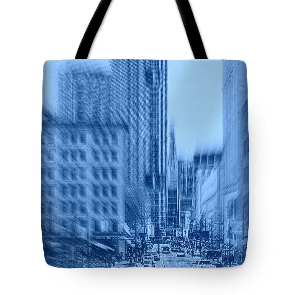 Vancouver Tote Bag featuring the photograph Rush Hour In Vancouver by Randy Harris