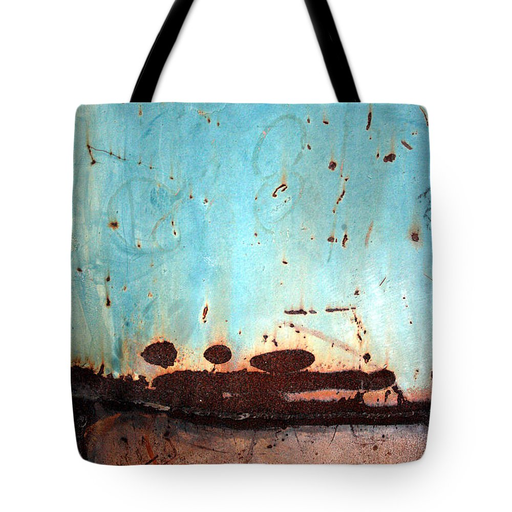 Jennifer Bright Art Tote Bag featuring the photograph Rust And Paint 1 by Jennifer Bright