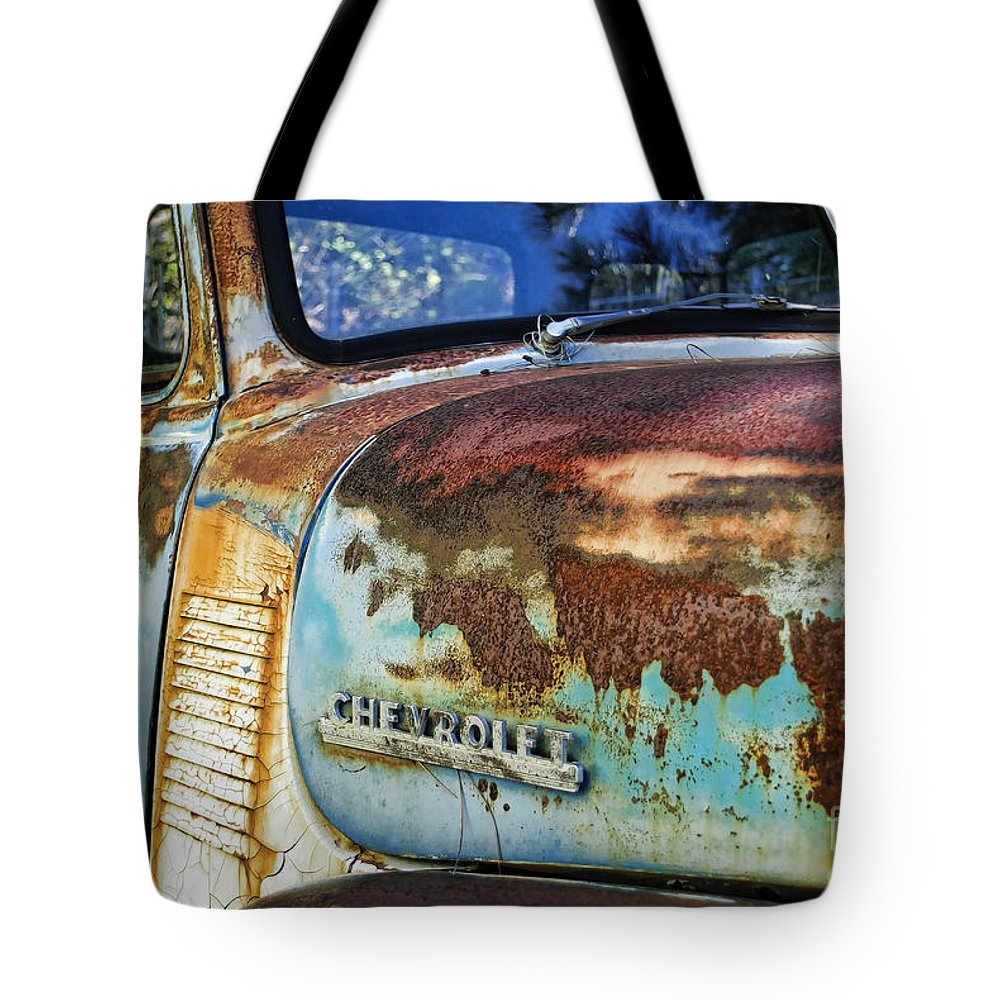 Chevy Tote Bag featuring the photograph Rusty by Diego Re