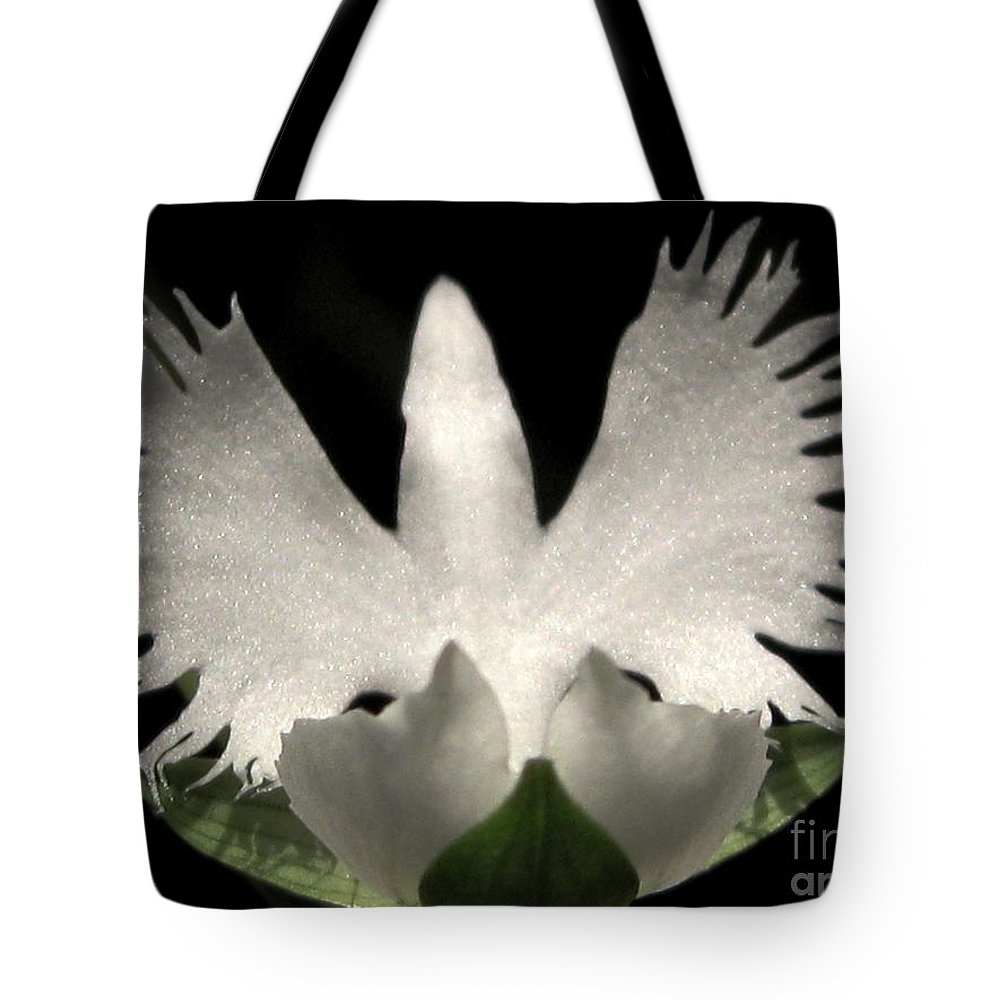 Sagi-so Tote Bag featuring the photograph Sagi-so Or Crane Orchid by J McCombie