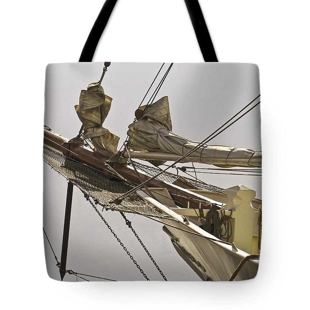 Maritime Tote Bag featuring the photograph Sailing Ship by Heiko Koehrer-Wagner