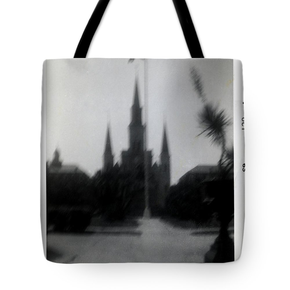 Louisiana Tote Bag featuring the photograph Saint Louis Cathedral October 1963 by Doug Duffey
