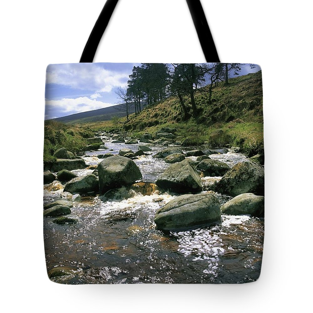 Co. Wicklow Tote Bag featuring the photograph Sally Gap, River Liffey, Co Wicklow by The Irish Image Collection