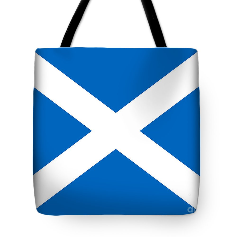 Saltire Tote Bag featuring the photograph Saltire by Steev Stamford